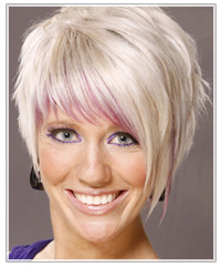 Blonde hair with purple highlights